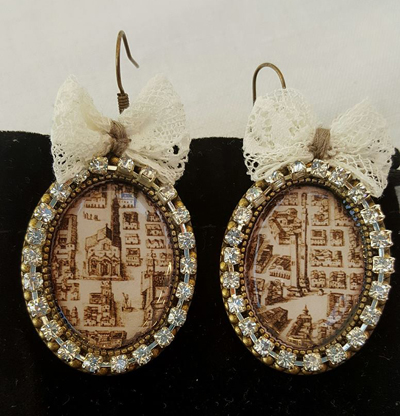 Earrings BolognArt Blaeu