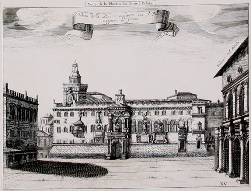 Blaeu Mortier Piazza Maggiore Palazzo maggiore 1705