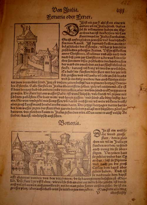 Münster, Bononia, 1555