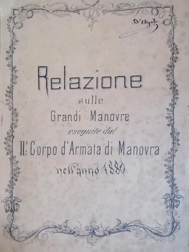 Relazione Grandi Manovre 1880
