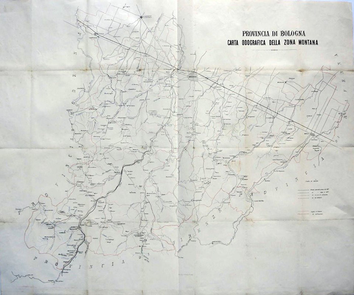 carta odografica fine XIX secolo