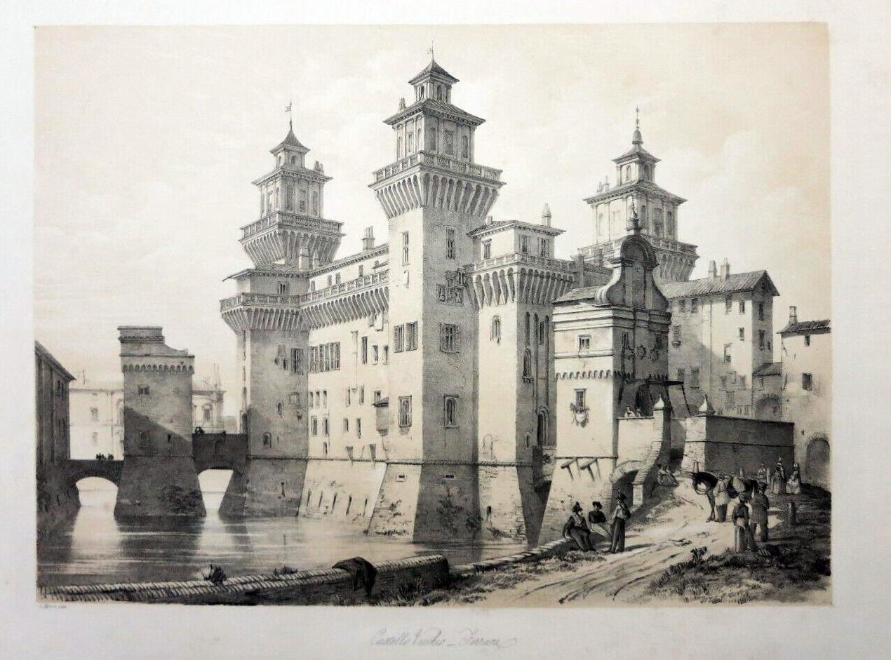 Castello estense, Moore, 1843