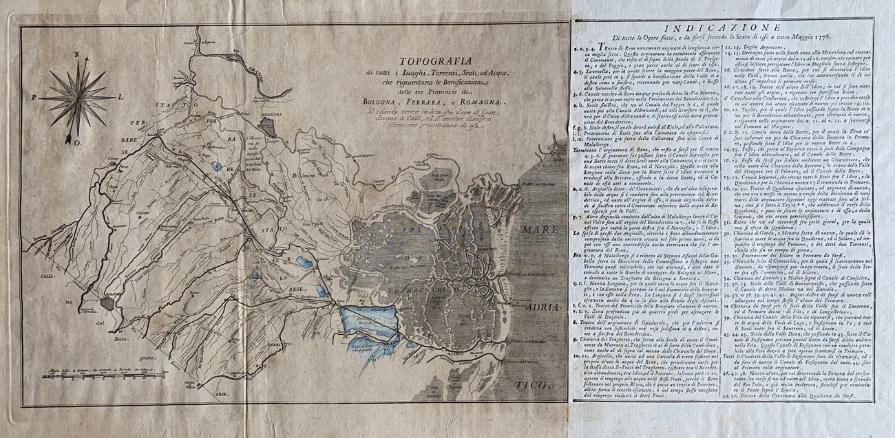 Topografia Luoghi Torrenti Scoli Acque, 1776