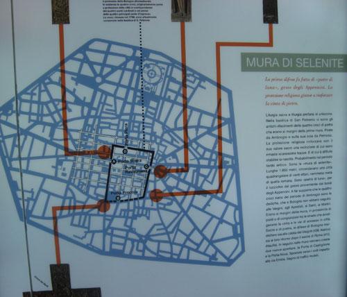 Perimetro della prima cerchia dimura della città: le Mura di Selenite (gesso)