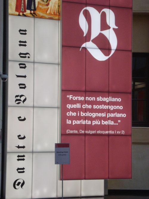 Citazionedi Dante sulla parlata bolognese