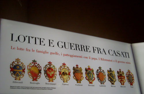 Stemmi degli antichi casati nobiliari bolognesi