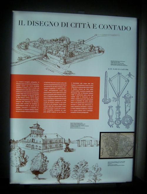 Il disegno della città e del contado, sala che ospita i tre splendidi olii che seguiranno