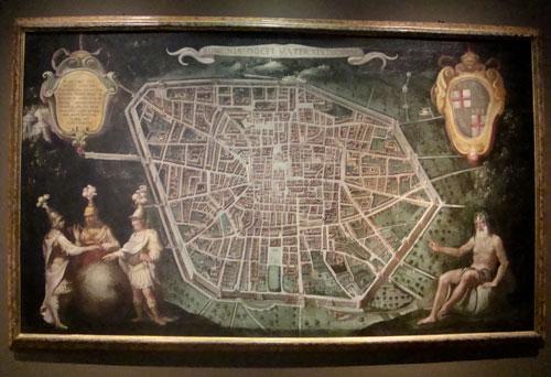 Grande pianta della città (1630) - olio su tela
