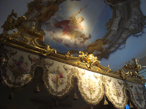 Particolare degli affreschi di Palazzo Pepoli - Sala del Sacro