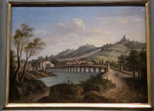 Ponte sul Reno - olio su tela