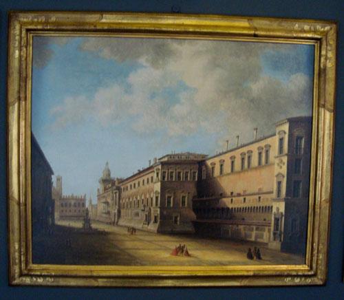 Piazza del Nettuno - olio su tela