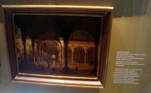 Santa Maria dei Servi - olio su tela di Antonio Basoli